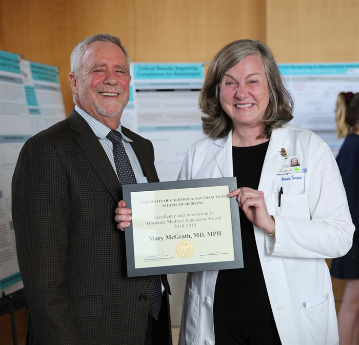 Mary McGrath Receives UCSF Excellence And Innovation Award In Graduate Medical Education Award